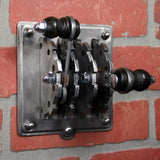 Industrial Laboratory Light Switch Cover - Double Toggle