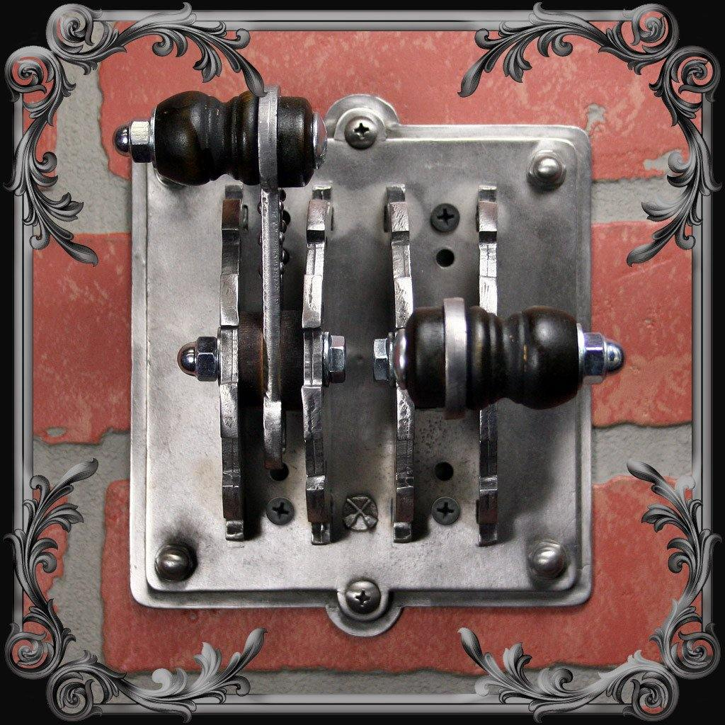 Industrial Laboratory Light Switch Cover - Double Toggle – The Black ...