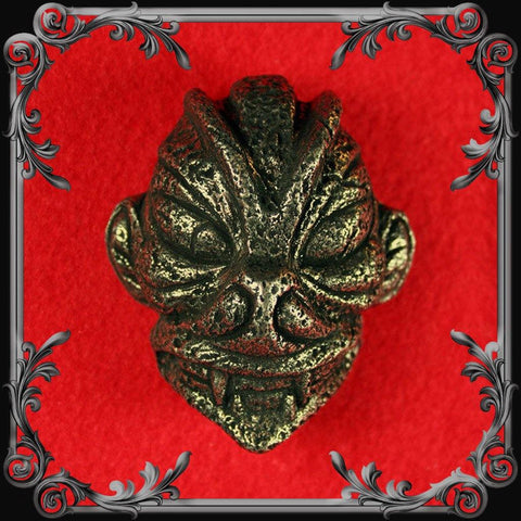 Pazuzu Head Belt Buckle - Antique Brass Finish