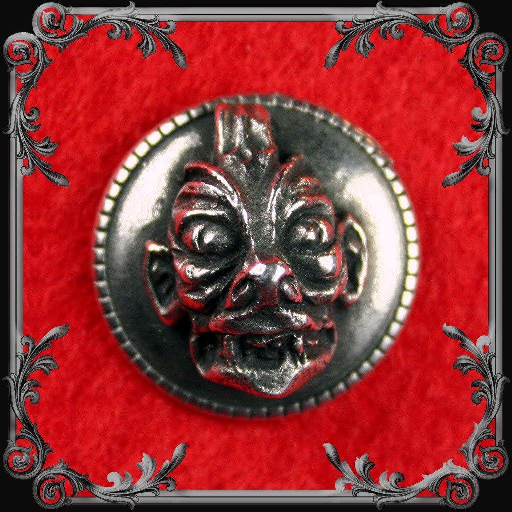 Pair of Pazuzu Buttons