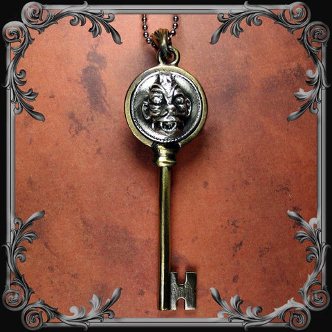 Pazuzu Key Pendant - Antique Brass Finish
