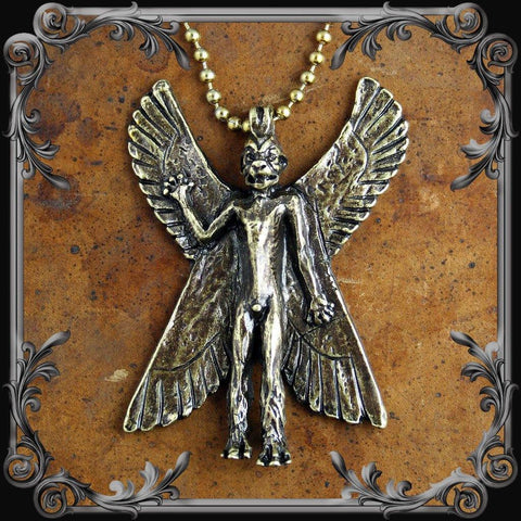 Pazuzu Necklace - Antique Brass Finish