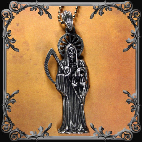 Santa Muerte Necklace - Large