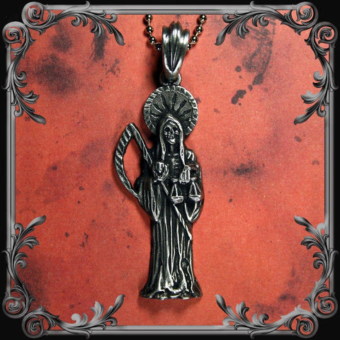Santa Muerte Necklace - Medium