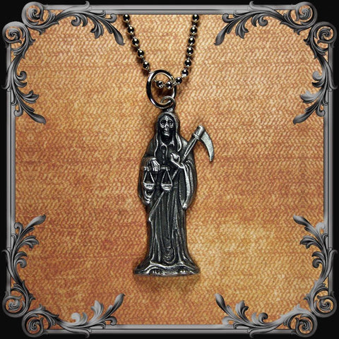 Santa Muerte Necklace - Small