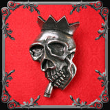 Screaming Kings Skull Belt Buckle