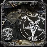 Baphomet Satanic Lapel Pin and Patches Set