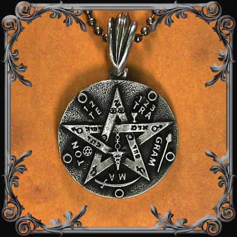 Tetragrammaton Necklace (Double-sided) - Pewter Finish