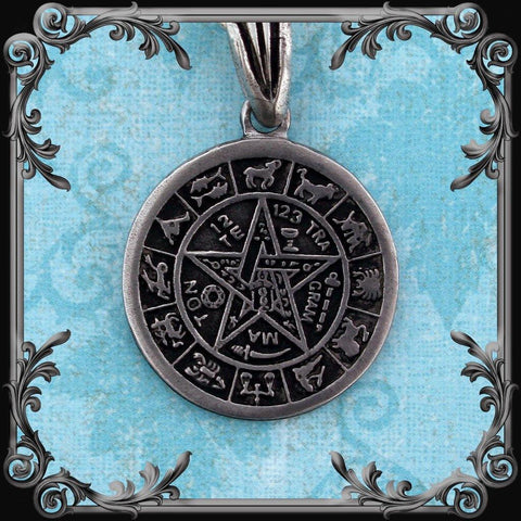 Zodiac Tetragrammaton Necklace (Double-sided)