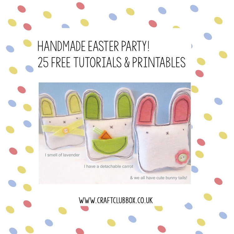 25 Free Tutorials & Printables for a  Handmade Easter Party
