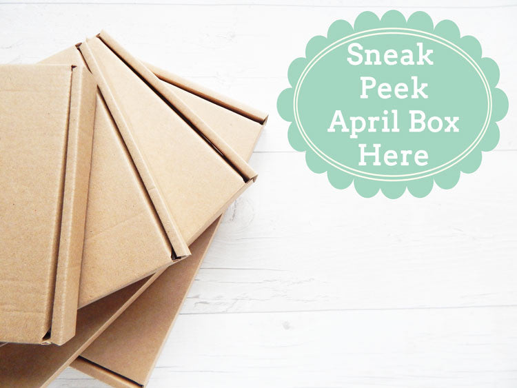 Sneak Peek inside April's Craft Club Box