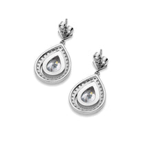 Harriet Silver Vintage Inspired Bridal Earrings in Antique Silver Drop