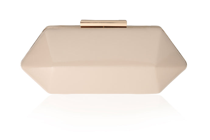 Lillian Clutch Bag in Nude - Vintage Styler