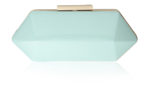 Lillian Geometric Vintage Inspired Clutch in Mint