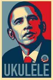 Image result for obama y ukuleles