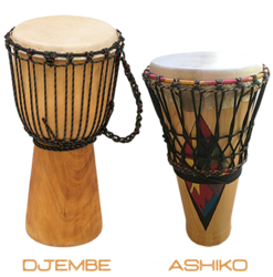 What is the difference between a Djembé and an Ashiko?