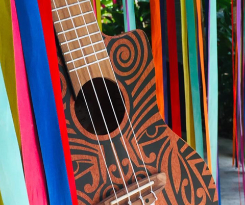 tattooed ukulele