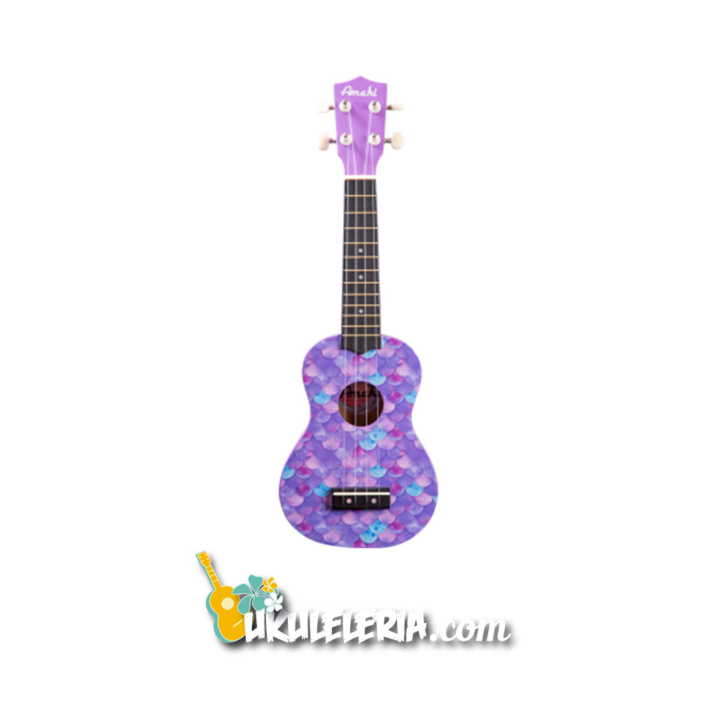 AMAHI Soprano Ukulele Mermaid Design