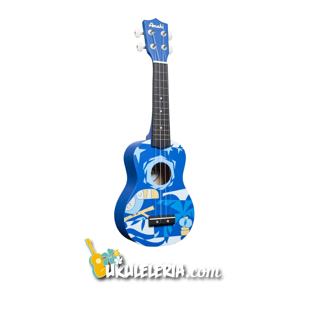 AMAHI Soprano Ukulele Blue Bird Design