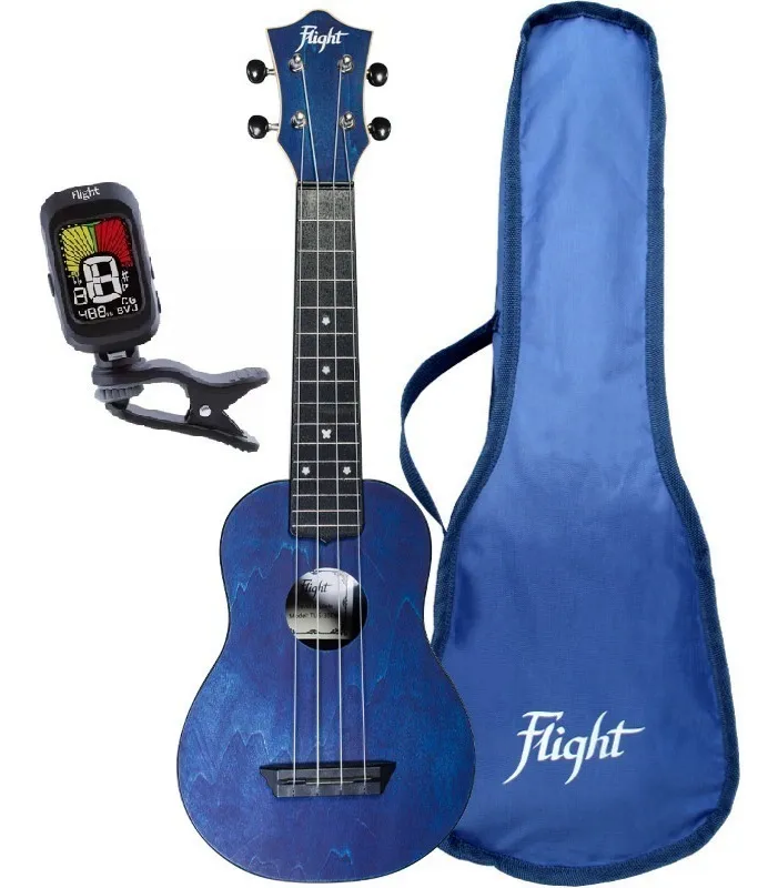Ukulele Soprano Flight TUS-35 PACK AZUL