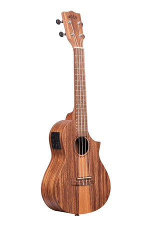 TRIPLE TOP TEAK CONCERT UKELELE WITH CUT AND EQUALIZER