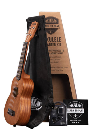 Soprano Ukulele - Kit to learn to play - (Includes Bag, Tuner and Quick Guide) Kala (KALA-LTP-S)