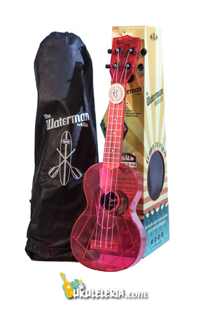 UKULELE WATERMAN ROSA FLUORESCENTE