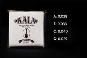 KALA Accessories KALA SOPRANO BLACK NYLON STRINGS (KU-RN-S)