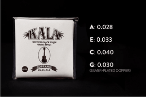 KALA Accessories KALA SOPRANO LOW G STRINGS OF BLACK NYLON (KU-RN-SLG)