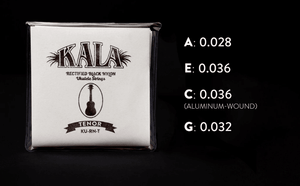 KALA Accessories KALA TENOR STRINGS OF BLACK NYLON (KU-RN-T)