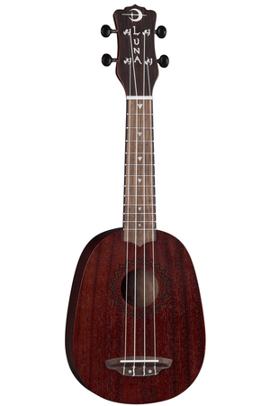 LUNA Ukuleles Default Vintage Mahogany Pineapple Red Satin