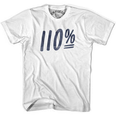 110 Percent T-shirt in White by Billy Hoyle