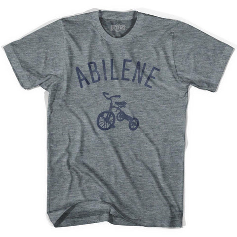 Abilene City Tricycle Adult Tri-Blend V-neck Womens T-shirt