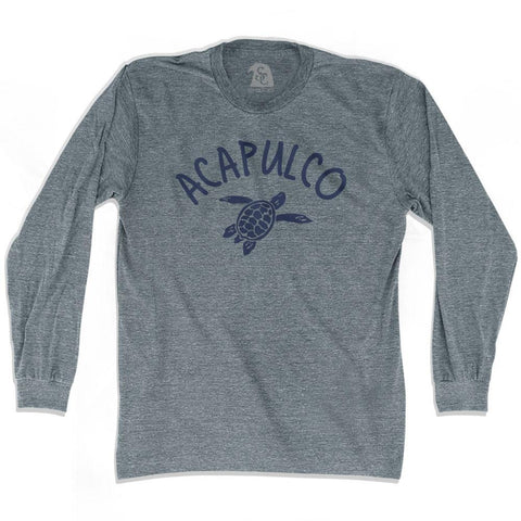Acapulco Beach Sea Turtle Adult Tri-Blend Long Sleeve T-shirt