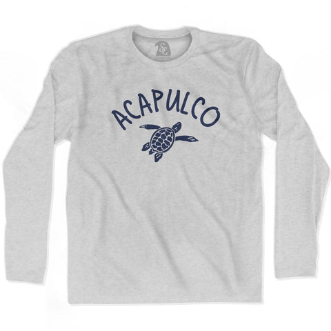 Acapulco Beach Sea Turtle Adult Cotton Long Sleeve T-shirt