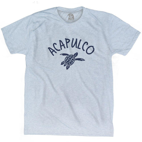 Acapulco Beach Sea Turtle Adult Tri-Blend T-shirt