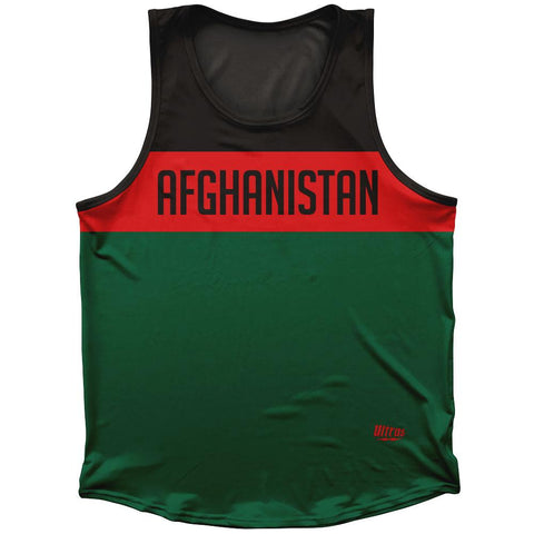 Afghanistan Country Finish Line Athletic Sport Tank Top Made In USA