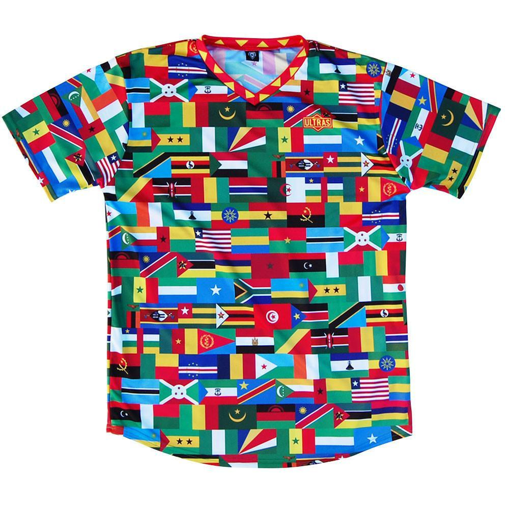Africa Nations Flags Soccer Jersey in Multi by Ultras