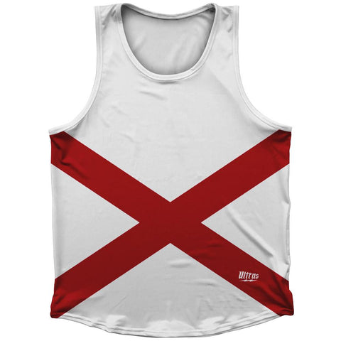 Alabama State Flag Athletic Sport Tank Top Made In USA