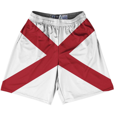 "Alabama State Flag 9"" Inseam Lacrosse Shorts"