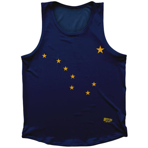 Alaska State Flag Athletic Sport Tank Top Made In USA