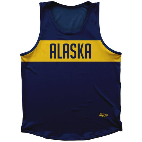 Alaska Finish Line State Flag Athletic Sport Tank Top Made In USA