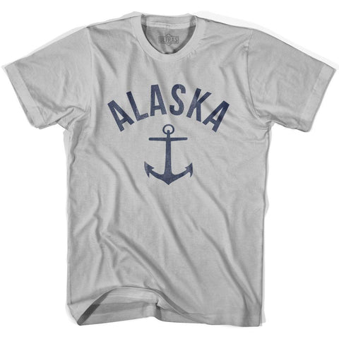 Alaska State Anchor Home Cotton Adult T-shirt
