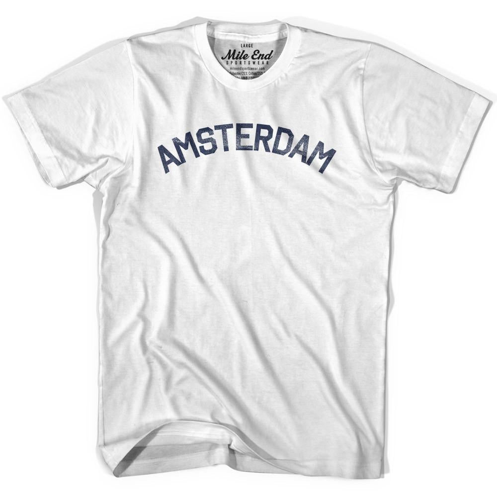 Amsterdam City Vintage T-shirt in Grey Heather by Mile End Sportswear