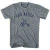 Ann Arbor City Tricycle Adult Tri-Blend V-neck Womens T-shirt by Ultras