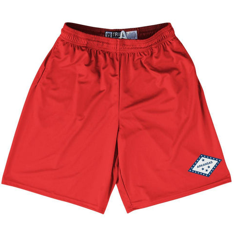 "Arkansas State Flag 9"" Inseam Lacrosse Shorts"