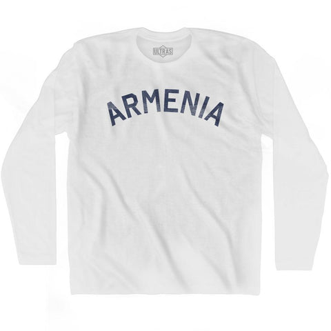 Armenia Vintage City Adult Cotton Long Sleeve T-shirt