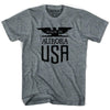 Made In USA Austin Vintage Eagle T-shirt in Athletic Grey by Mile End Sportswear