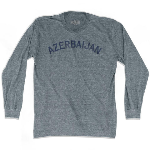 Azerbaijan Vintage City Adult Tri-Blend Long Sleeve T-shirt