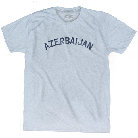 Azerbaijan Vintage City Adult Tri-Blend T-shirt